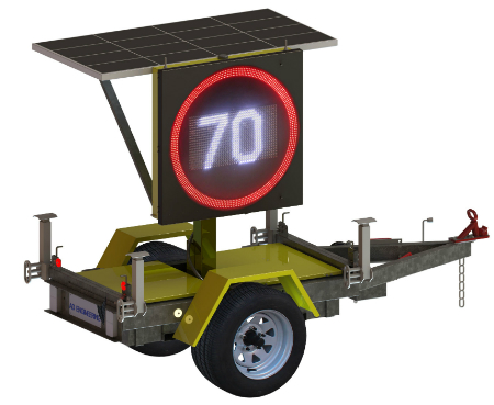 trailer-mounted electronic variable speed limit signs