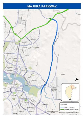 Majura Parkway alignment